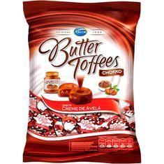 Bala Arcor Butter Toffees Avelã 600g