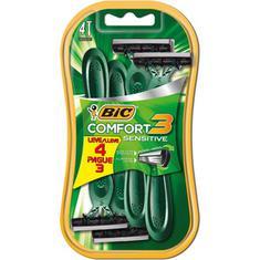 Aparelho Barbear Bic Comfort 3 Sensível Leve 4 Pague 3un.