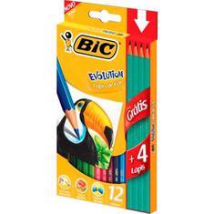 Lápis de Cor Evolution 12 Cores + 4 Lápis Preto Bic