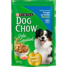 Alimento Para Cães Frango Ao Molho Dog Chow 100g