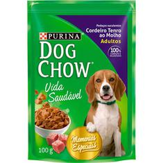 Alimento Para Cães Cordeiro Ao Molho Dog Chow 100g