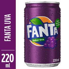 Refrigerante Sabor Uva Fanta 220ml
