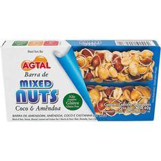 Barra de Cereal Mixed Nuts Coco e Amêndoa Agtal 2X30g