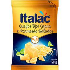 Queijo Grana e Parmesão Ralado Italac 50g