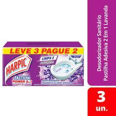Pasta Adesiva 2 em 1 Lavanda Harpic 9g Leve 3 Pague 2un