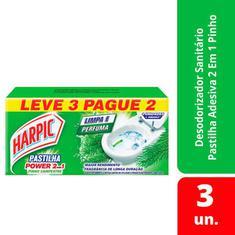 Pasta Adesiva 2 em 1 Pinho Harpic 9g Leve 3 Pague 2un