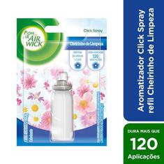 Purificador Click Spray Cheiro de Limpeza Bom Ar Refil 12ml
