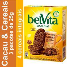 Biscoito Sabor Cacau e Cereais Belvita 75g