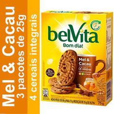 Biscoito Sabor Mel e Cacau Belvita 75g
