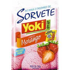 Sorvete em Pó sabor Morango Yoki 150g