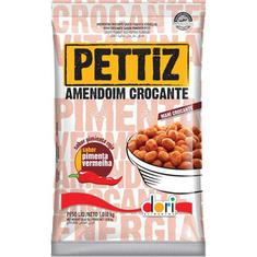 Amendoim Crocante sabor Pimenta Vermelha Pettiz Dori 1,010kg
