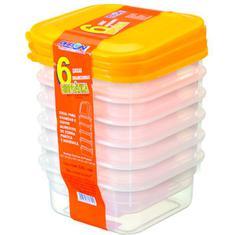 Caixa Plástica Pleion 850ml 6 Peças