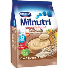 Cereal Infantil Multicereais Milnutri Danone 180g