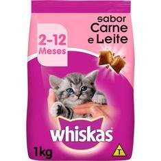 Alimento para Gatos Filhote sabor Carne Whiskas 1kg