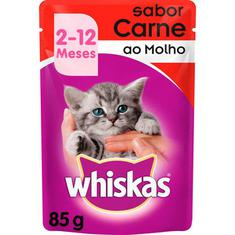 Alimento para Gatos Junior Sabor Carne Whiskas 85g