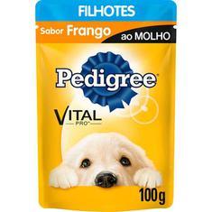 Alimento para Cães Junior sabor Frango ao Molho Pedigree 100g