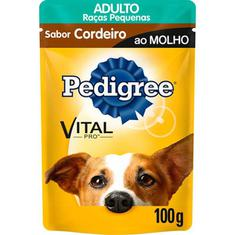 Alimentos para Cães Raças Pequenas sabor Cordeiro ao Molho Pedigree 100g