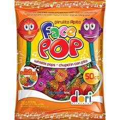 Pirulito Face Pop Apito Dori 450g
