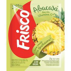 Refresco em Pó Sabor Abacaxi Frisco 25g