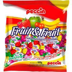 Bala Mastigável Fruit & Fruit Peccin 600g