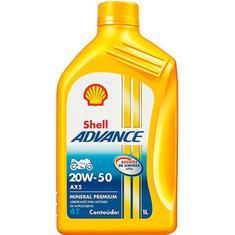 Óleo para Motor Advance 4T 20W50 Shell 1L
