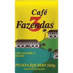Café Tradicional a Vácuo 3 Fazendas 500g