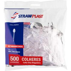 Colher para Café Descartável Cristal Strawplast 500un