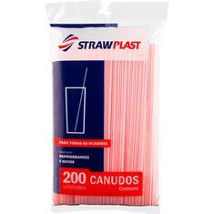 Canudo Refri Suco CS002 Strawplast 200un