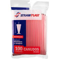 Canudo para Milk-shake 8mm CM1000 Strawplast 100un