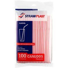 Canudo Flexível CS210 Strawplast 100un