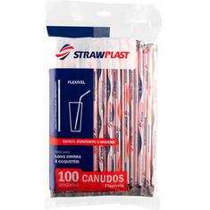 Canudo Flexível CS304 Strawplast 100un