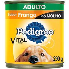 Alimento para Cães Adultos sabor Frango ao Molho Pedigree Lata 290g
