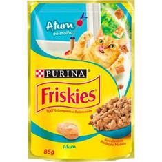 Alimento para Gatos Sabor Atum ao Molho Sachê Friskies 85g
