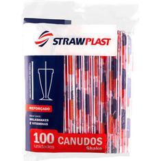 Canudo 8mm Strawplast 100un