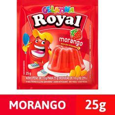 Gelatina em Pó sabor Morango Royal 25g