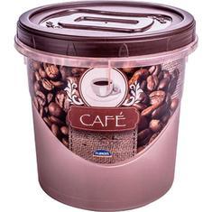 Porta Café com Tampa Rosqueável 6399 Plasútil 1,8L