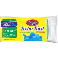 Saco para Lixo reforçado Fecha Fácil Embalixo 100L 15un.