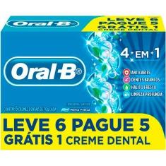 Creme Dental 4 em 1 Oral B 70g Leve 6 Pague 5