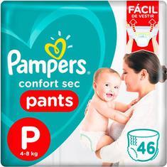 Fralda Pampers Confort Sec Pants P 46 unidades