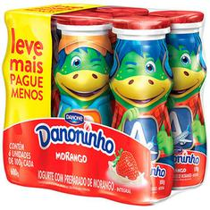 Pack Iogurte para Beber Sabor Morango Danoninho 600g