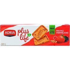 Biscoito Plus Life Integral Frutas vermelhas Adria 130g