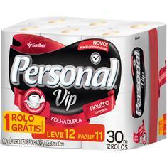 Papel Higiênico VIP Personal Leve 12 Pague 11un 30m