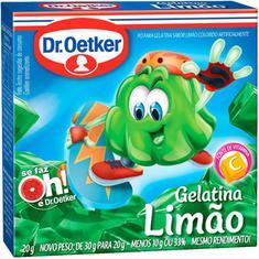 Gelatina em Pó Sabor Limão Oetker 20g