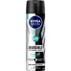 Desodorante Aerossol Black & White Fresh Masculino Nivea 89g