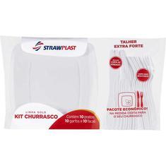 Kit para Churrasco Branco Strawplast