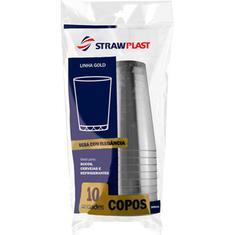 Copo de Acrílico Cristal Strawplast 300ml 10un