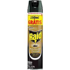 Inseticida Aerossol Mata Baratas e Formigas Embalagem Econômica Raid 450ml