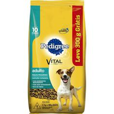 Ração para Cães Raças Pequenas Pedigree Leve 3kg Pague 2,7kg