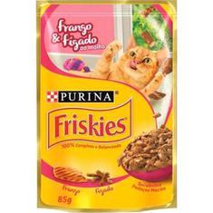 Alimento para Gatos sabor Frango e Figado ao Molho Friskies 85g