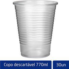 Copo Descartável Transparente Altacoppo 770ml 30un